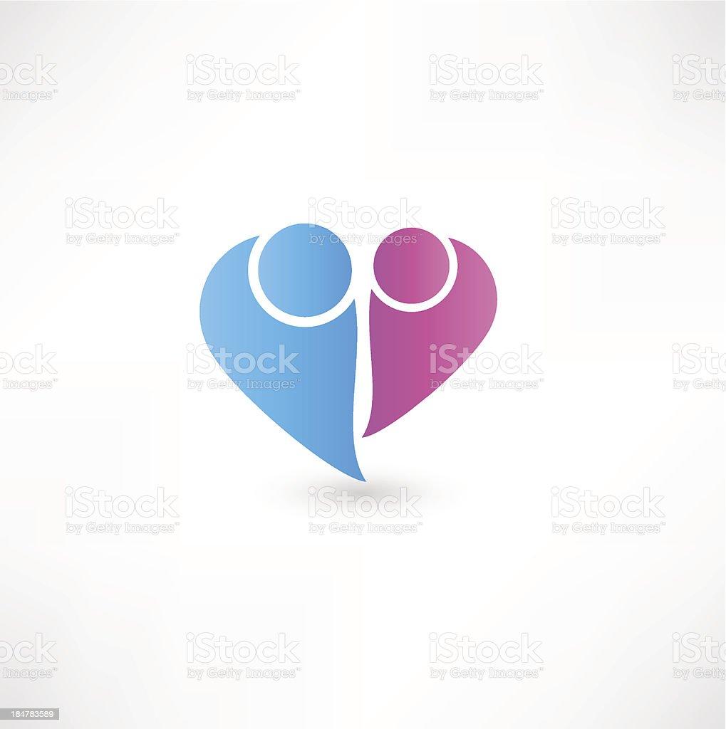 couple icon royalty-free stock vector art