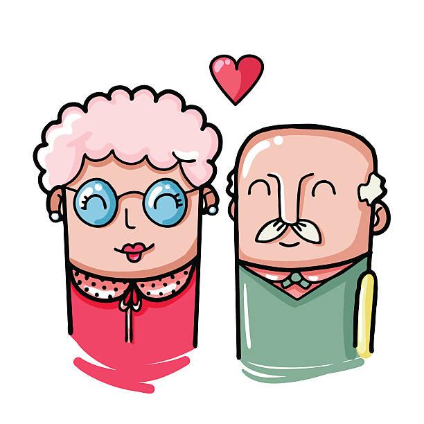 illustrazioni stock, clip art, cartoni animati e icone di tendenza di coppia di illustrazione - grandparents