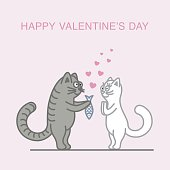 Couple in love cats