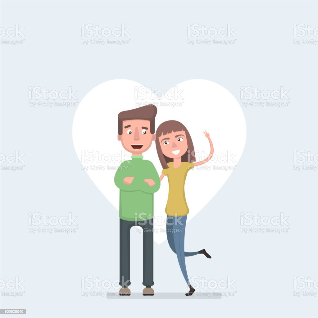 愛のカップル男と女が抱き合ってに愛情を込めて聖バレンタインの饗宴の