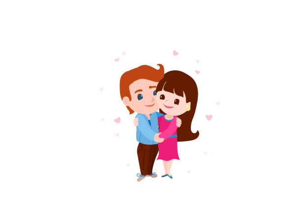 Love Each Other Clip Art: Royalty Free Silhouette Of A Couple Laughing Clip Art