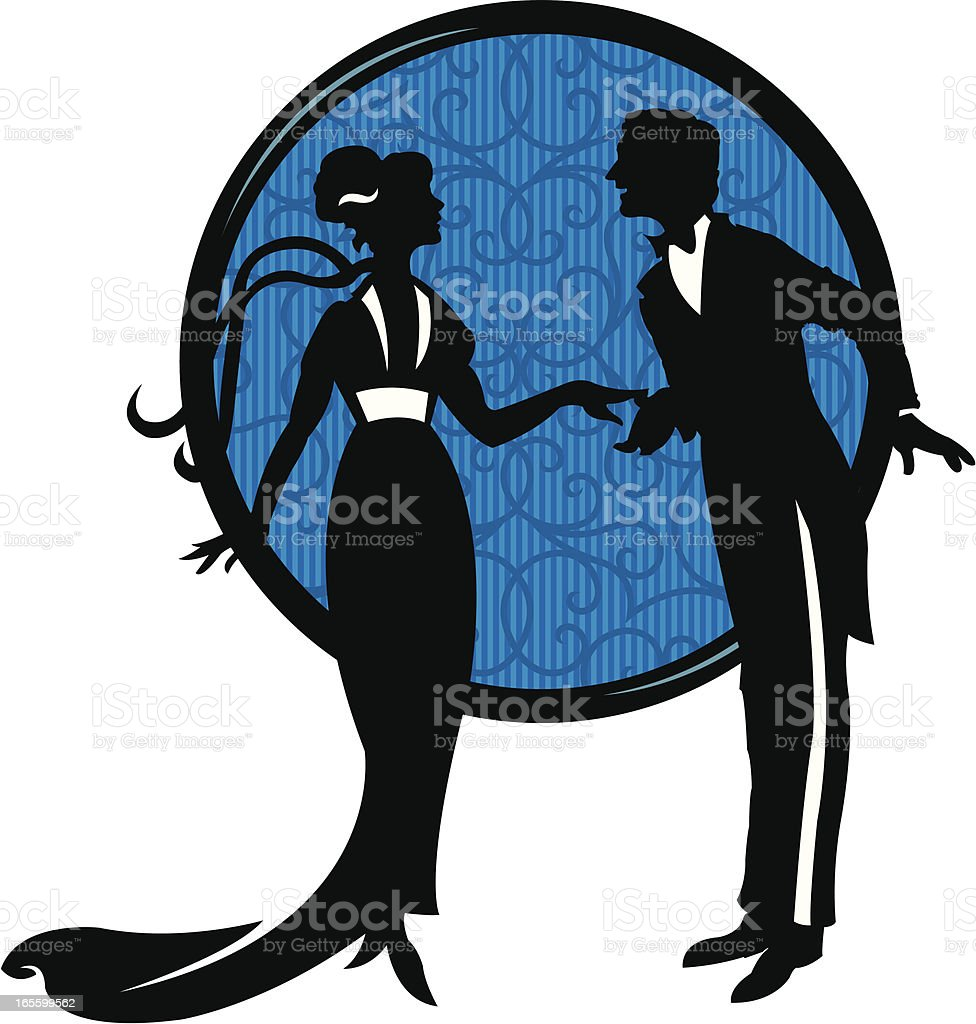 Couple in Love or Wedding royalty-free stock vector art