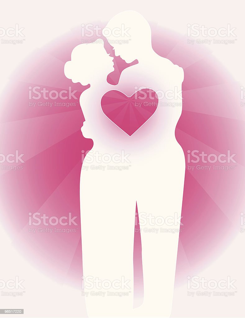 Couple in love Silhouette with heart royalty-free couple in love silhouette with heart stock vector art & more images of adult