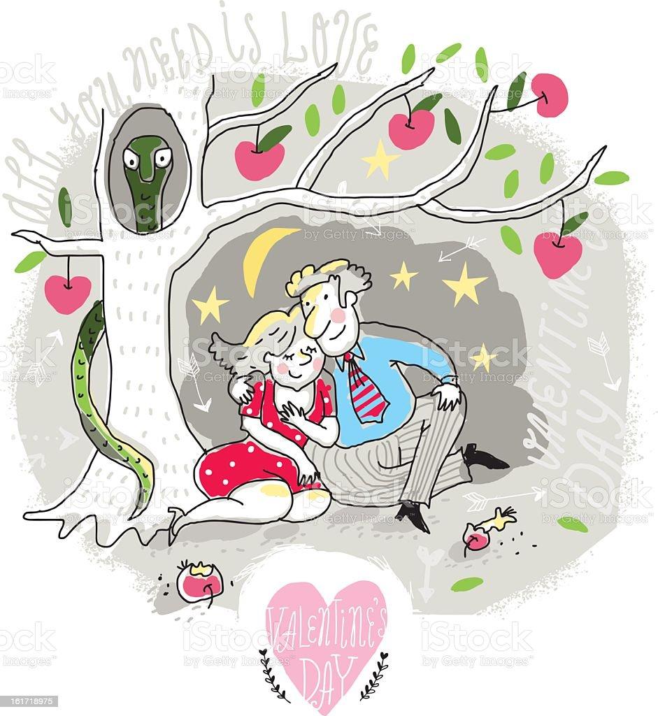 カップル愛クリスマスツリーの下で のイラスト素材 161718975 | istock