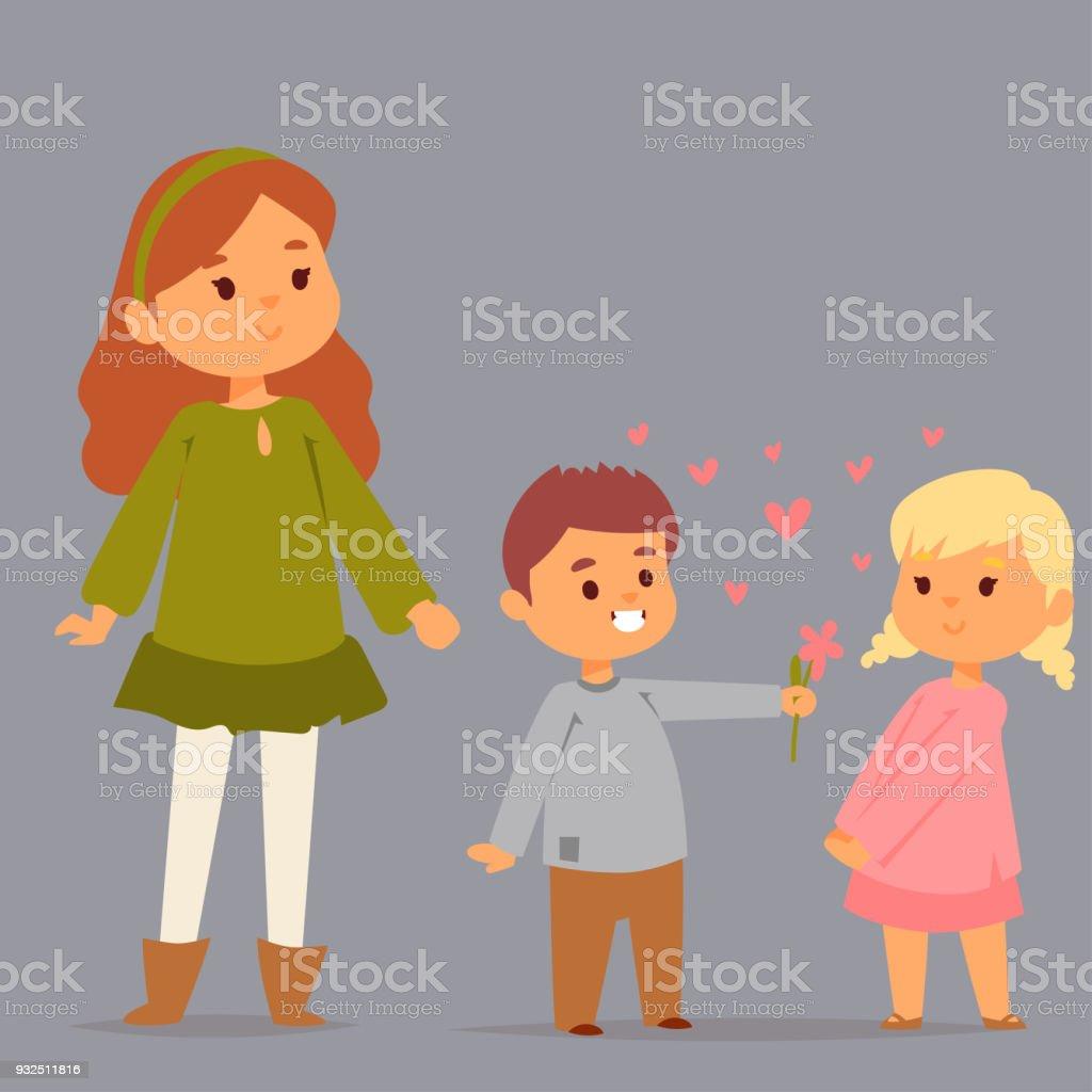 大人の関係愛ベクトル文字一体幸せ笑顔人ロマンチックな女性色気で連結