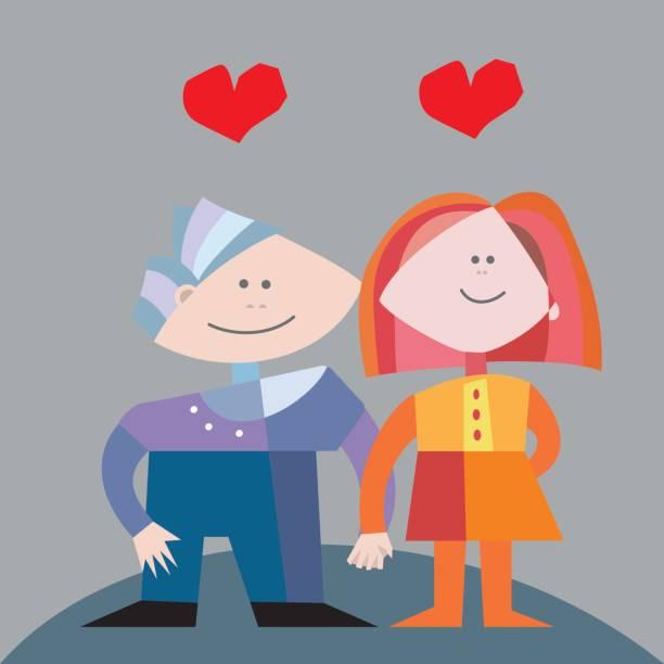 ilustraciones, imágenes clip art, dibujos animados e iconos de stock de pareja de enamorados - tintanegra00