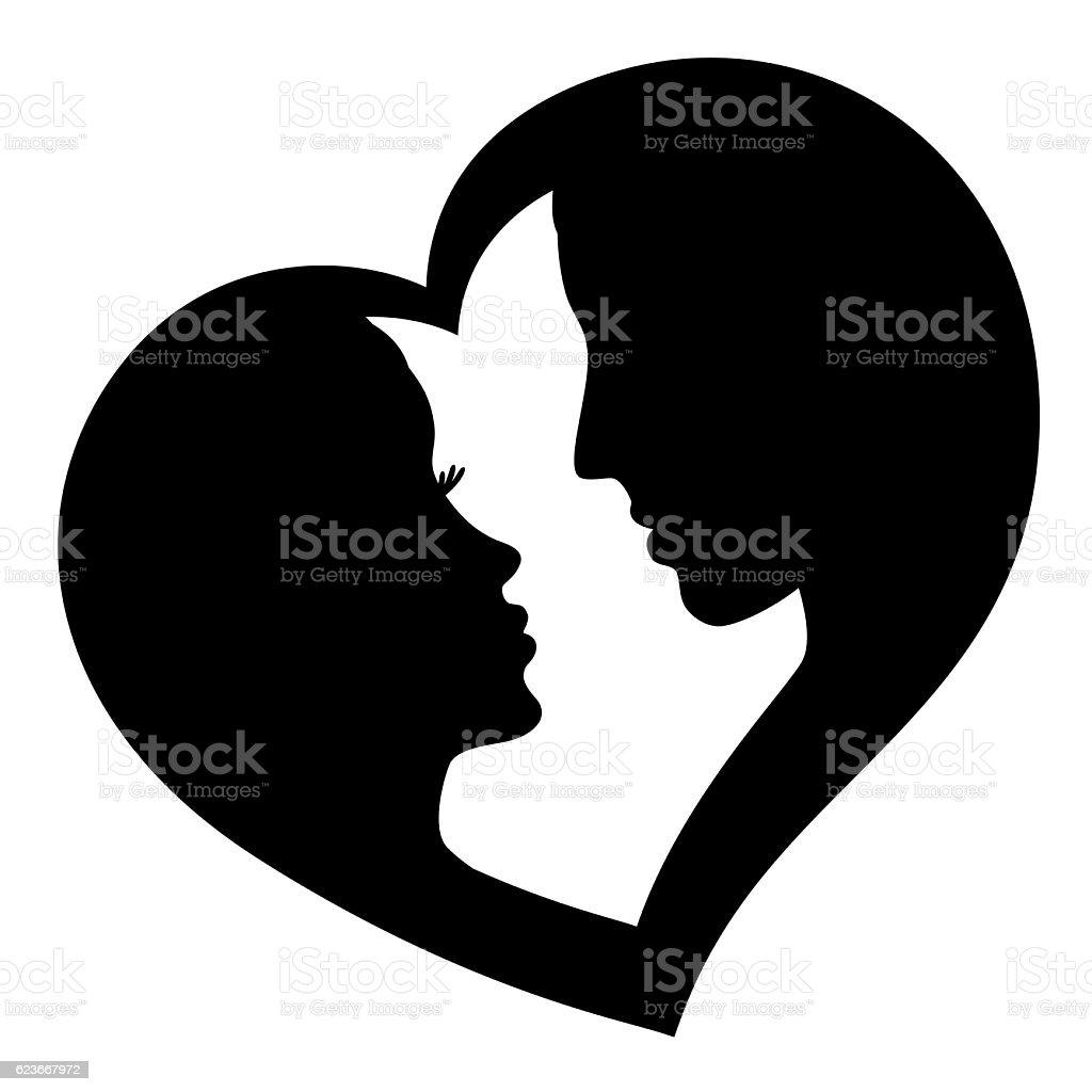 Couple in love, vector logo vector art illustration
