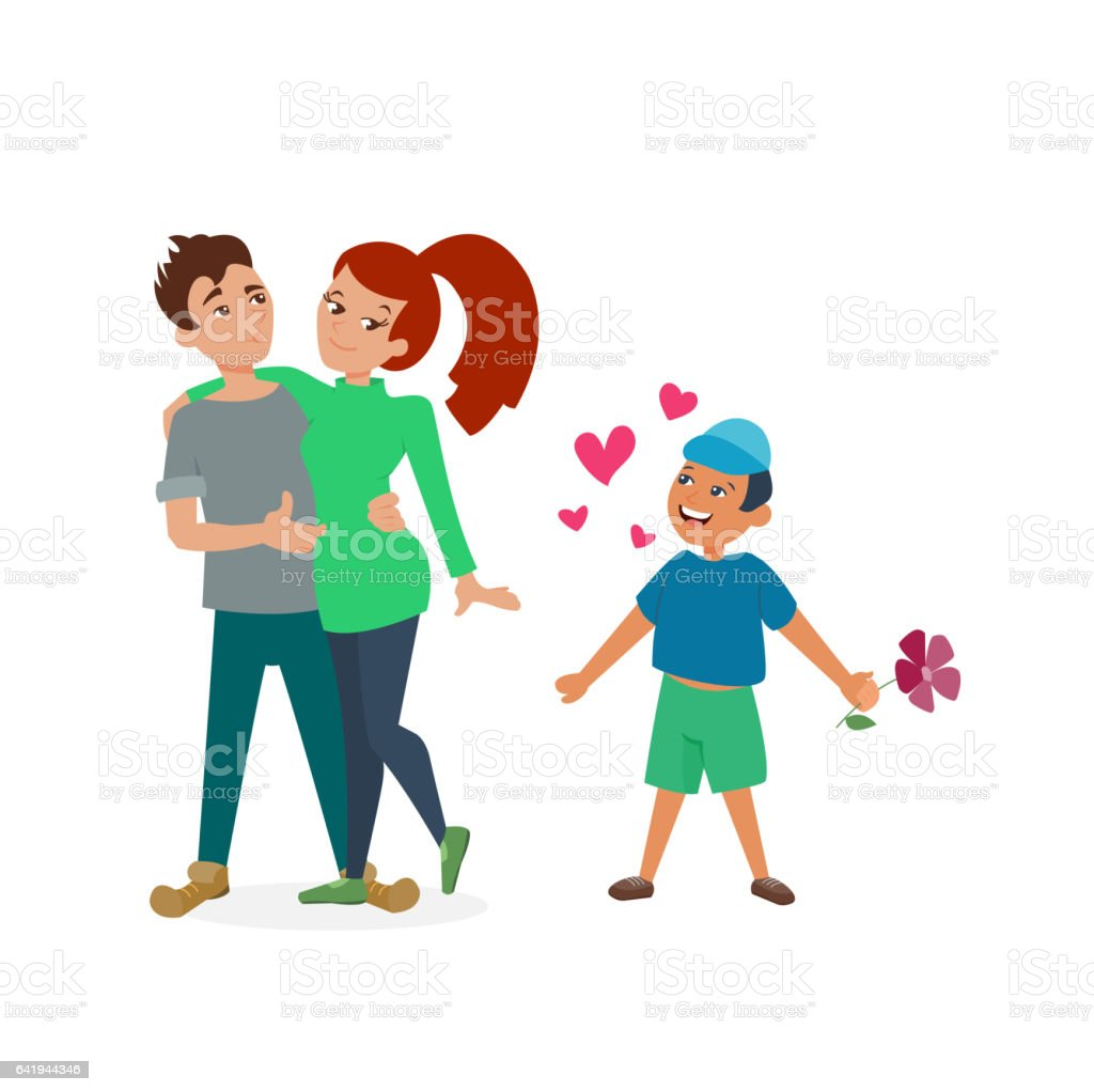 Couple in love vector set vector art illustration