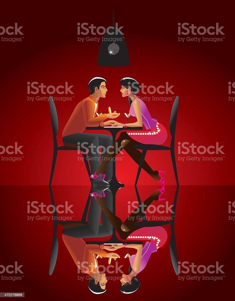 Paar In Liebe Und Hochzeit Ringe Stock Vektor Art Und Mehr Bilder