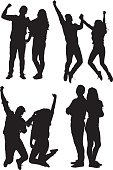 Couple in various actions