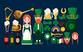 couple irish with set icons