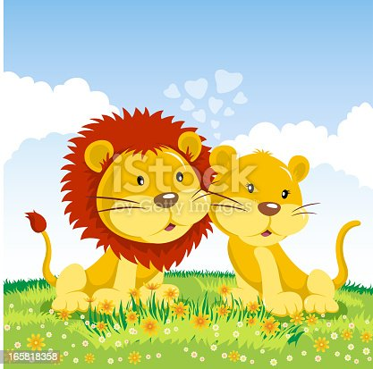 istock Couple Lions in Love 165818358