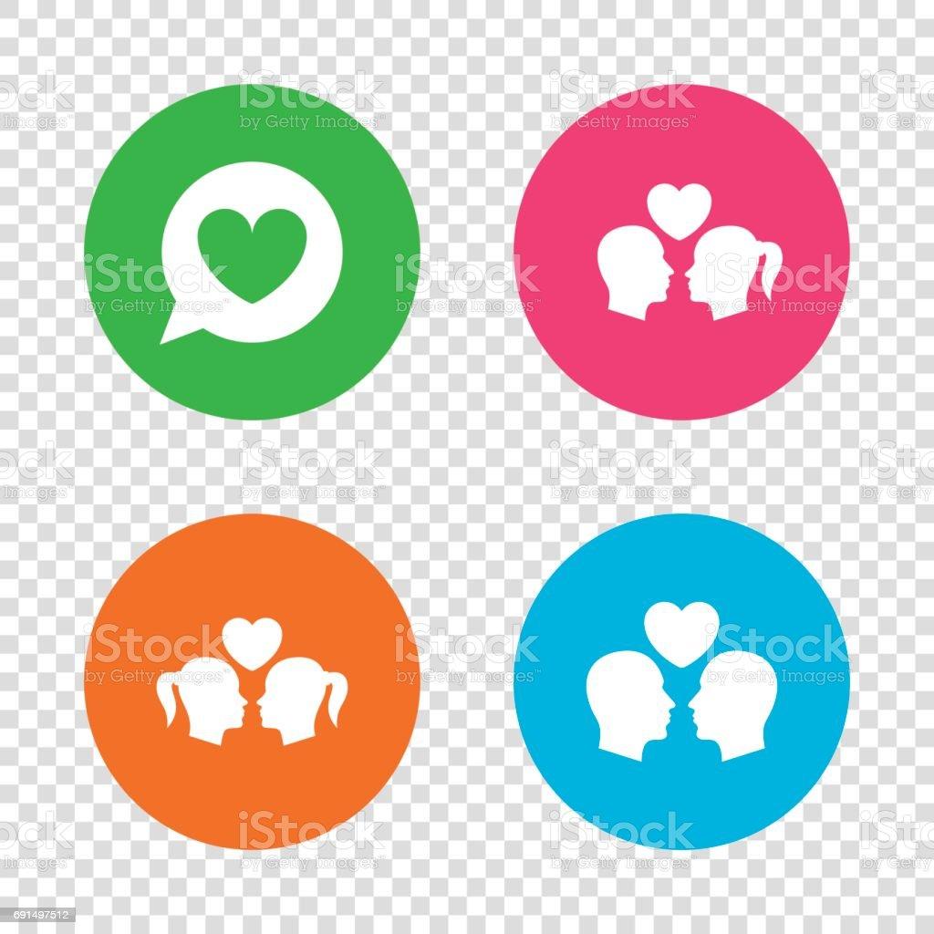 Pareja en el amor icono. Lesbianas y homosexuales los amantes de las señales.  ilustración 344eb4e8cb4bb