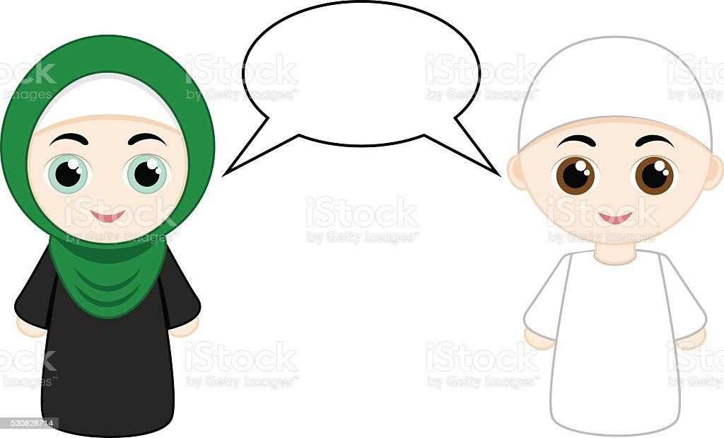 Couple muslim people