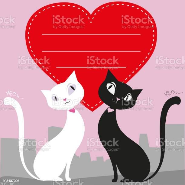 Couple of cats and a red heart greeting card or banner vecto vector id923437006?b=1&k=6&m=923437006&s=612x612&h=syjhvnmpzwx fbtipjsqfn2v8imq cwciplbwiohakg=