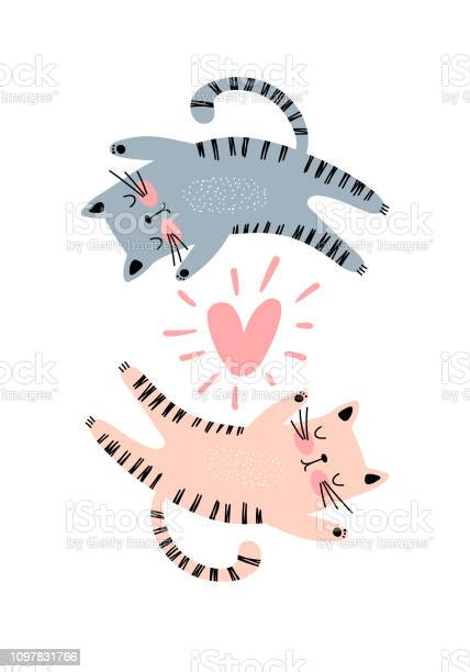 Couple of cats and heart illustration vector id1097831766?b=1&k=6&m=1097831766&s=612x612&h=kw cz1iunuxjwznac22qne78engyr4lrcbfr6 t7nma=