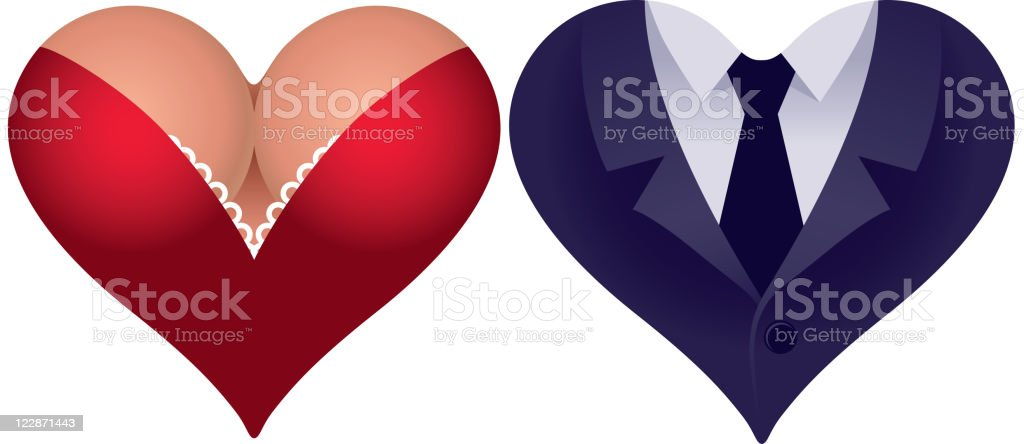 Couple of hearts royalty-free stock vector art