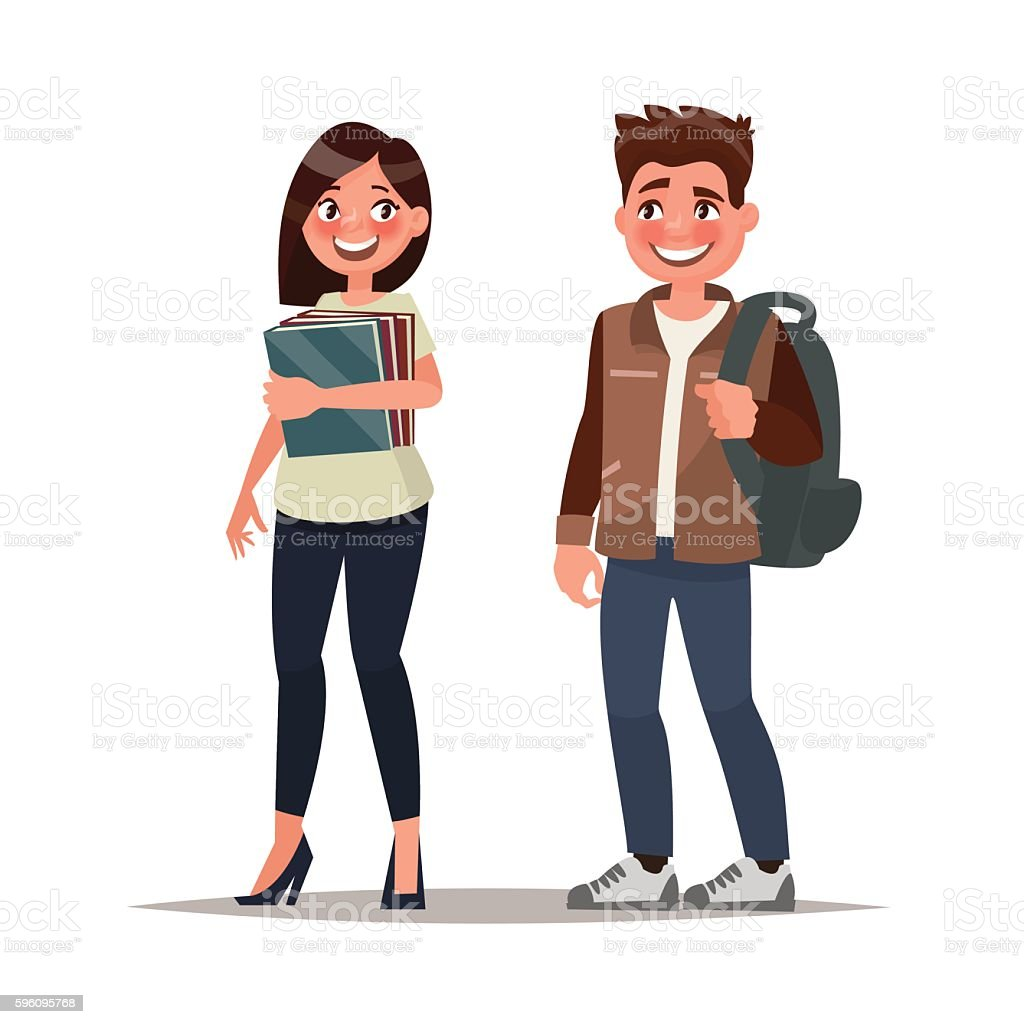 Couple of students. The guy and the girl on royalty-free couple of students the guy and the girl on stock vector art & more images of adult