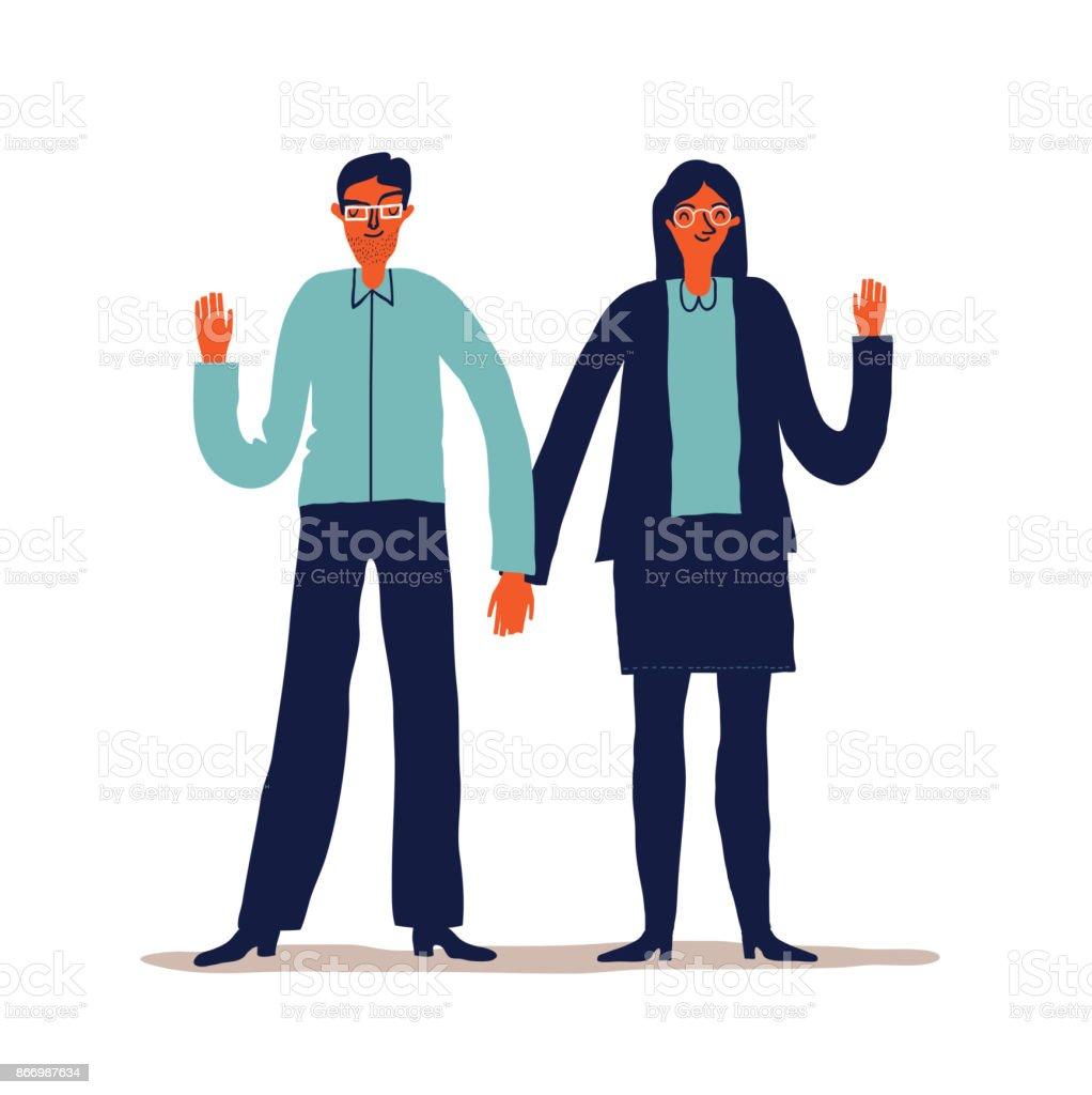 Paar junge Menschen – Vektorgrafik