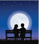 Couple on a bench.