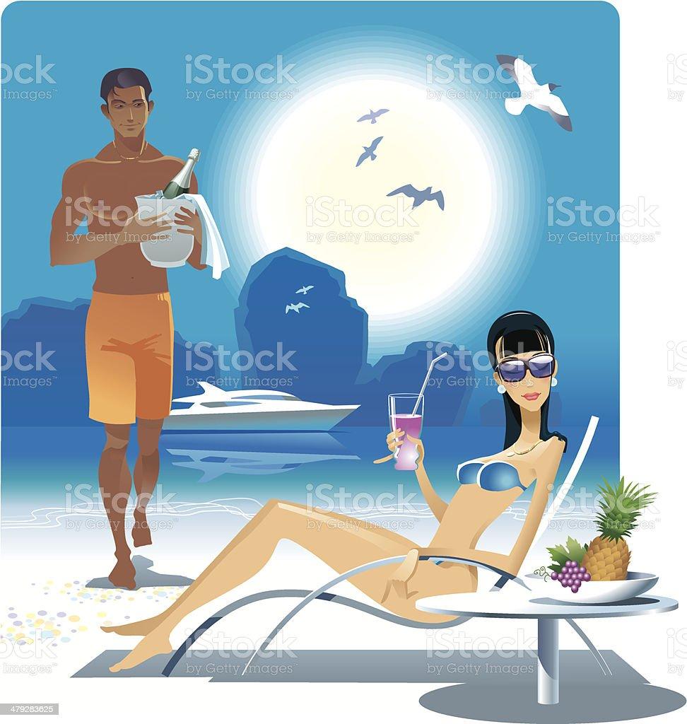 ビーチのカップル のイラスト素材 479283625 | istock