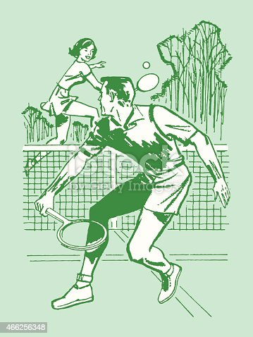 istock Couple Playing Tennis 466256348