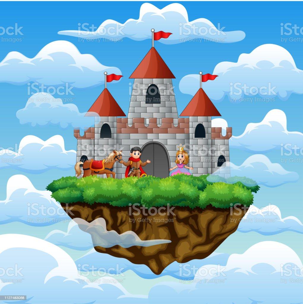 Un Chateau Dans Les Nuages un couple de prince et de princesse dans un château sur le