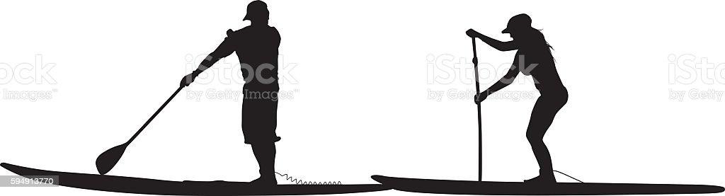 royalty free paddleboard clip art vector images illustrations rh istockphoto com Kayak Clip Art SUP Clip Art