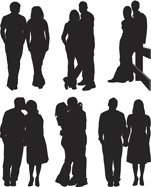 couple romancing together - couples stock illustrations, clip art, cartoons, & icons