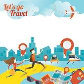 Couple run to City Travel