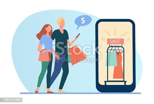 istock Couple shopping online 1282522892