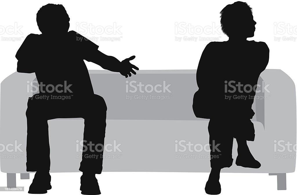 Coppia seduta sul divano illustrazione 181459479 istock - Coppia di amatori che scopano sul divano ...