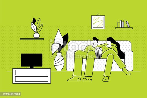 istock Couple staying at home 1224987841