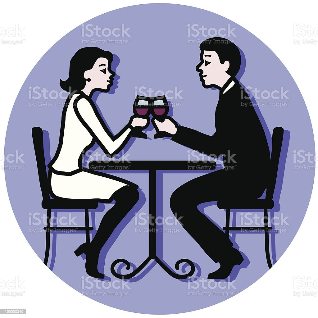 couple toasting royalty-free stock vector art