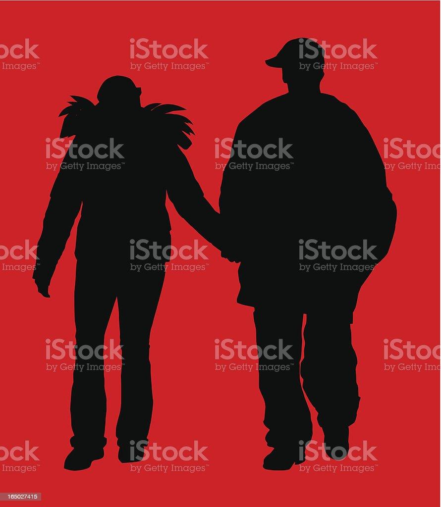 Couple  ( Vector ) royalty-free stock vector art