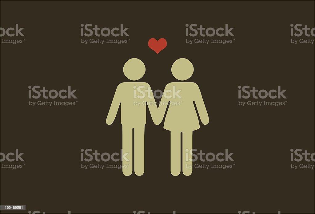 couple vector art illustration