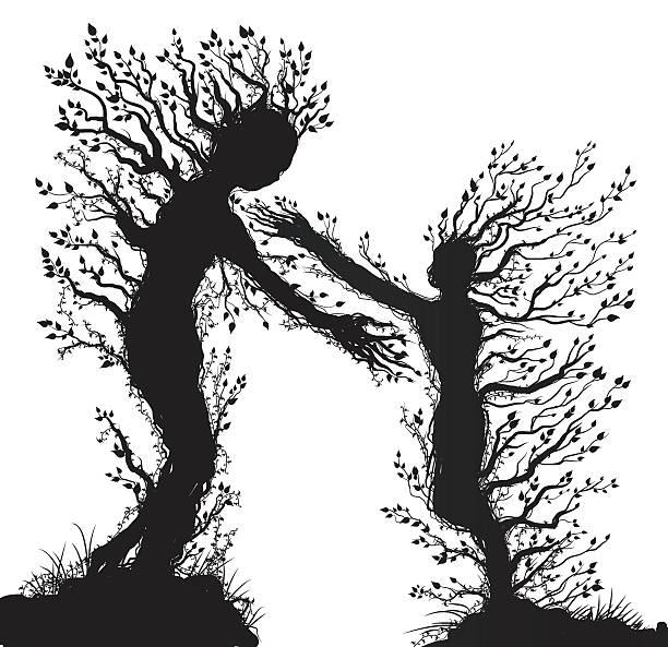 bildbanksillustrationer, clip art samt tecknat material och ikoner med couple - abstract silhouette art