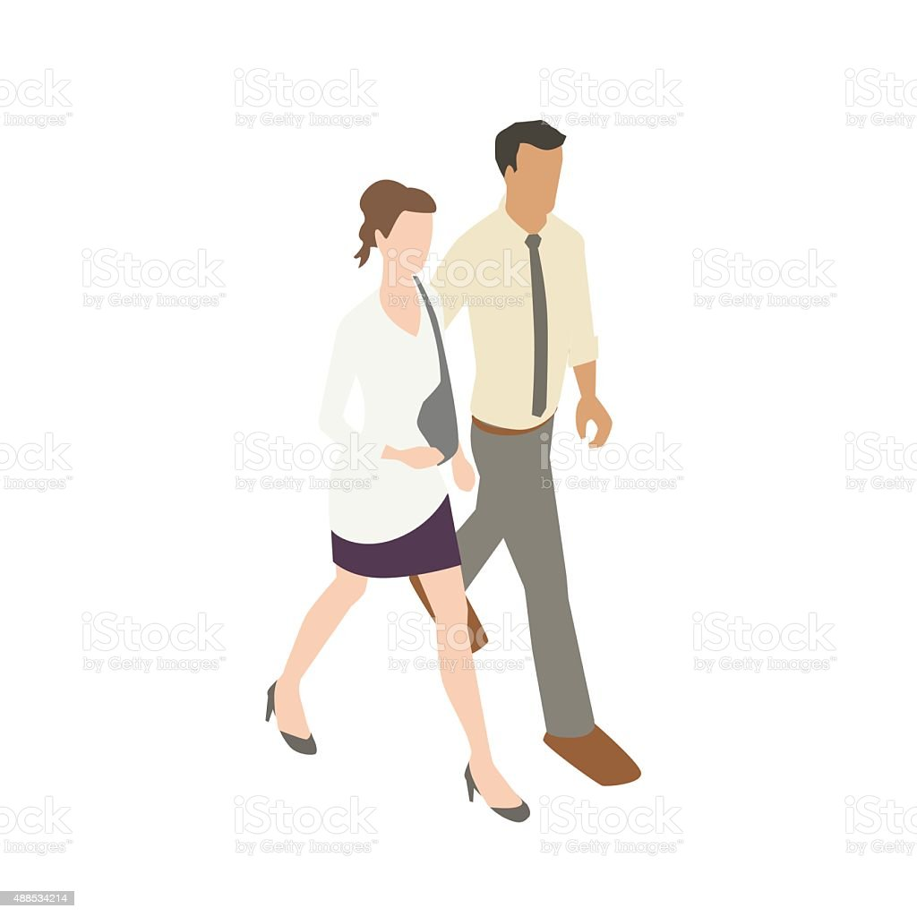 Couple walking illustration royalty-free couple walking illustration stock illustration - download image now