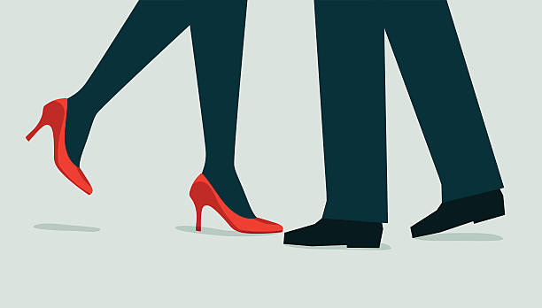 Couple-Illustration Illustration and Painting flirting stock illustrations