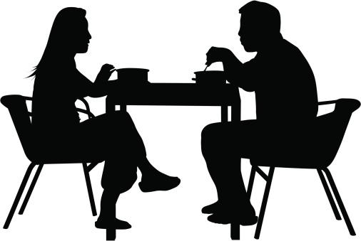 Couples Having Dinner