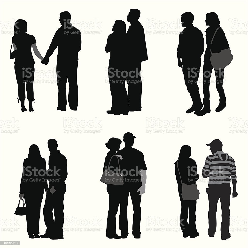 Couples Vector Silhouette royalty-free stock vector art