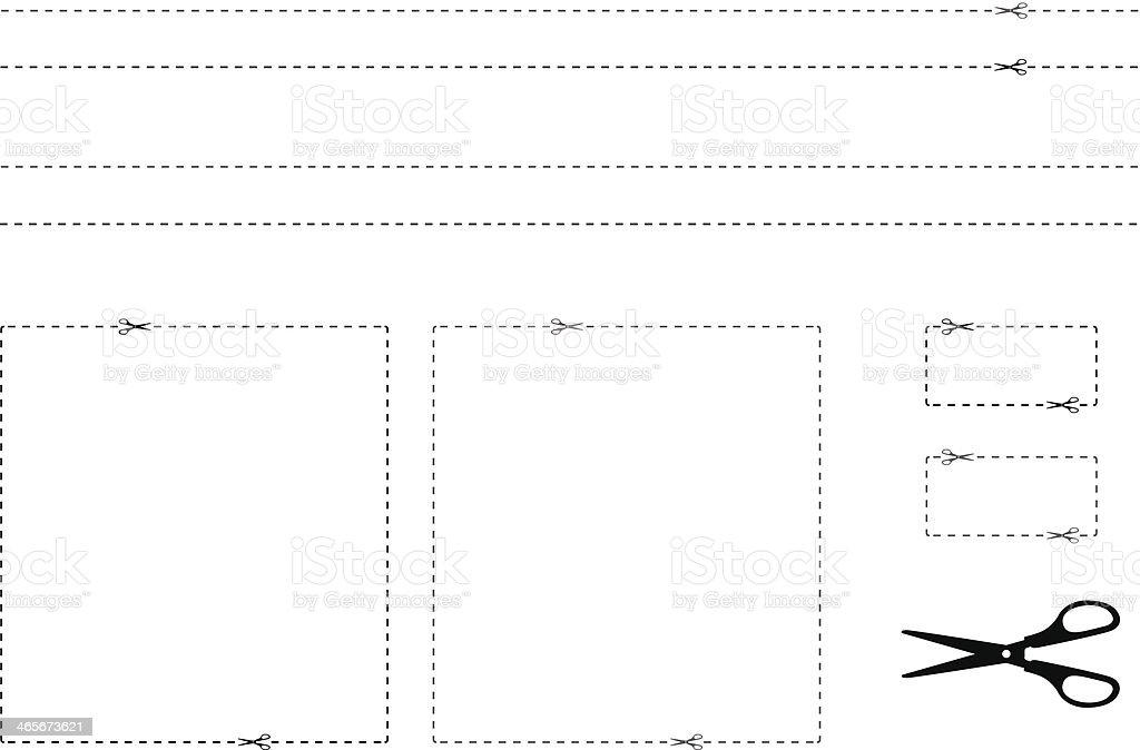 Gutschein-Grenzen Lizenzfreies gutscheingrenzen stock vektor art und mehr bilder von bindestrich