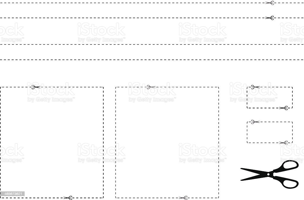 Las fronteras de cupón - ilustración de arte vectorial