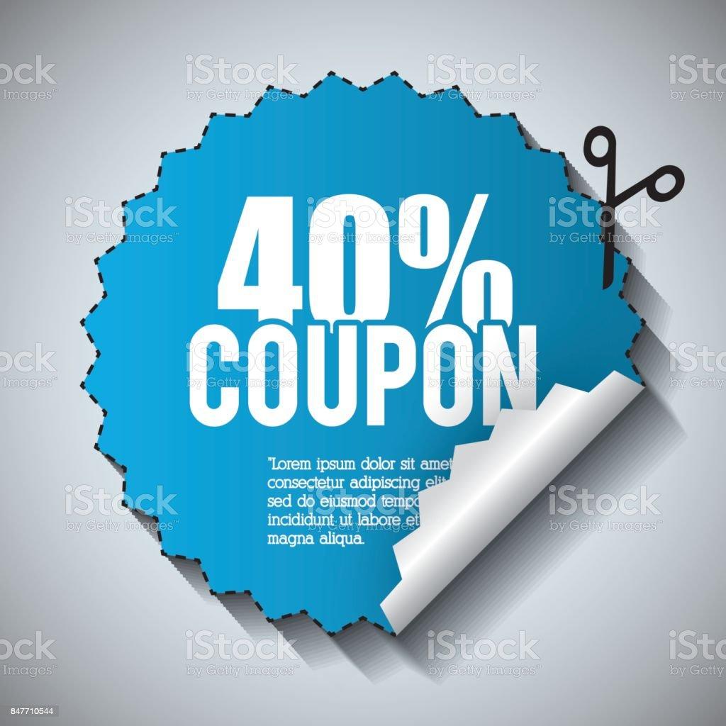 coupon design sale icon shopping concept stock vector art more
