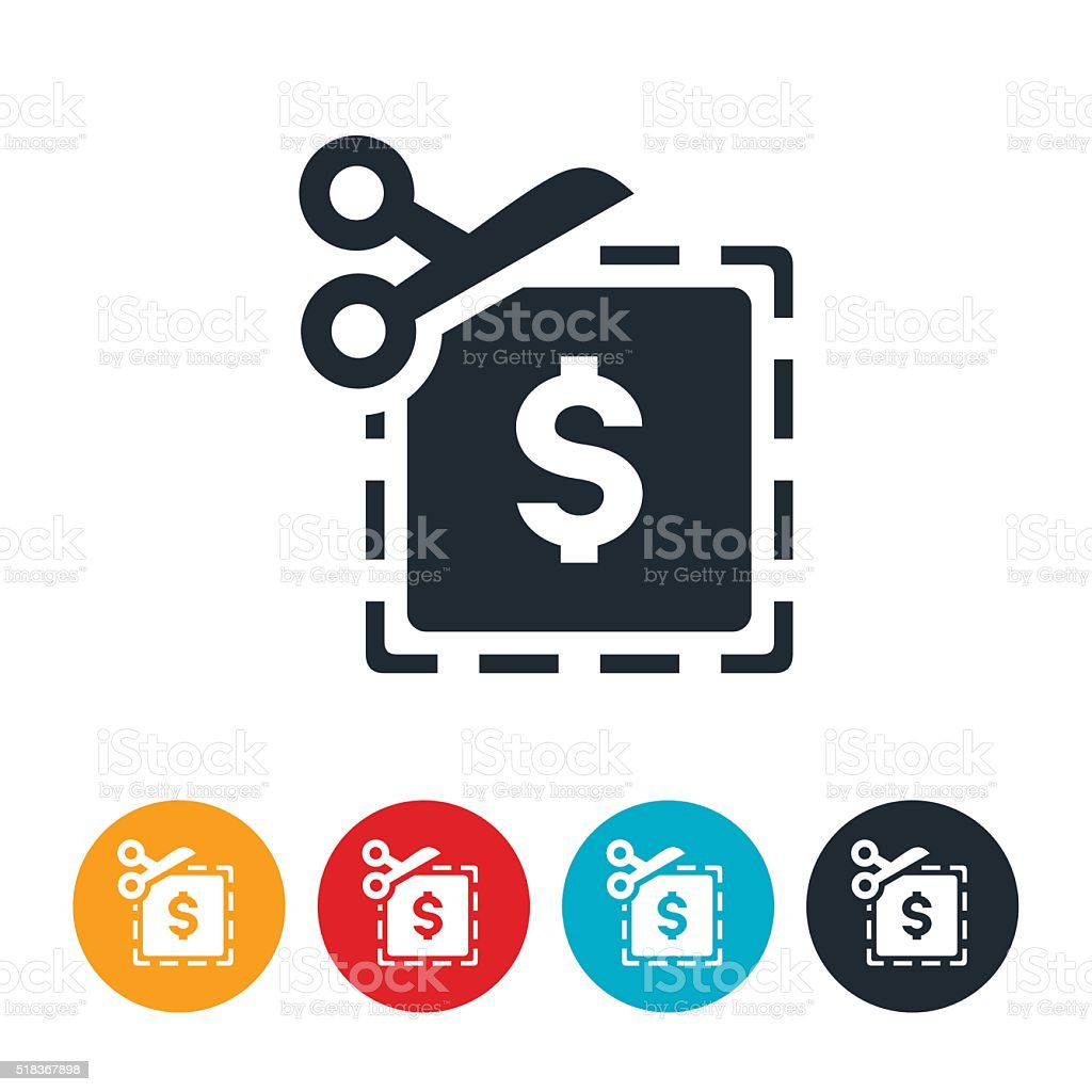 Coupon Icon vector art illustration