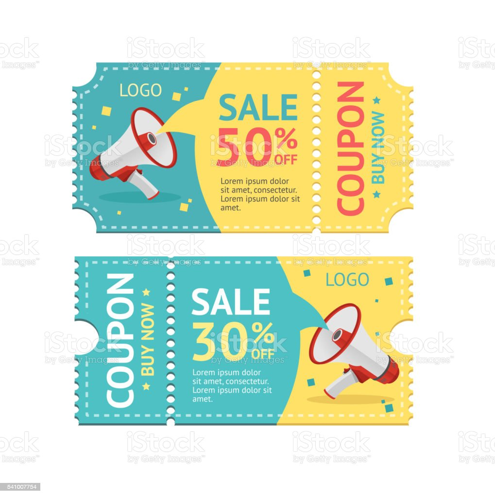 Coupon Sale. Vector vector art illustration