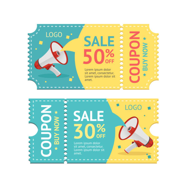 coupon sale. vector - coupon stock illustrations, clip art, cartoons, & icons