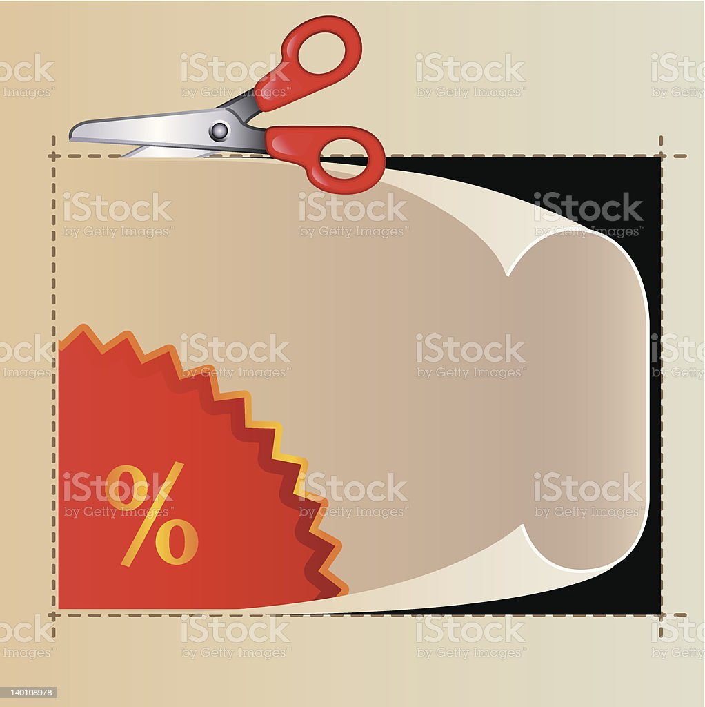 Coupon royalty-free stock vector art