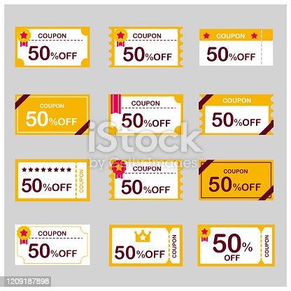 coupon voucher discount ticket vector