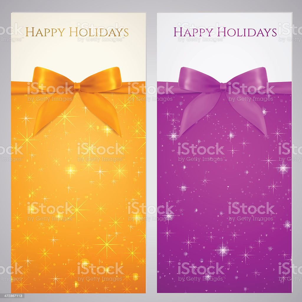 coupon voucher gift certificate template bow stars background stock